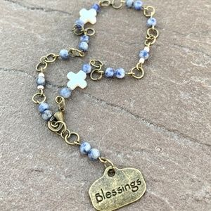 Auto christian religious gemstone rosary